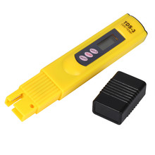 1 Pcs Digital LCD Water Quality Testing Pen Purity Filter TDS Meter Tester 0-9990 PPM Temp Portable Yellow(China)