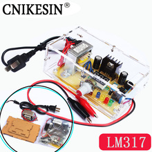 CNIKESIN 2PCS DIY LM317 adjustable voltage power electronic parts and diy electronic training power production suite