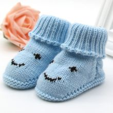 Cute Smiley Face Snow Shoes Infant Toddler Girls Winter Warm Booties Newborns Baby Walker Crib Boots