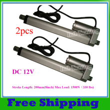 A Pair of 200mm/8inches Stroke Linear Actuator 12V DC Tubular Motor Motion 5.7mm/sec 1500N=150KG for Electric Sofa, Bed, Window