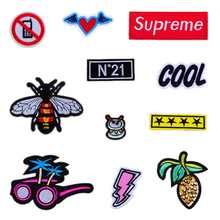 fashion embroidery patch on clothes good badges for kids clothing cute images embroidery patches iron on support customization