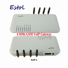 DBL Original goip 4 Quad Band GOIP-4 4 Channel VoIP GSM Gateway GSM VoIP network goip4 embedded SIP/H.323 protocols promotion