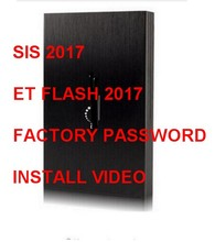 JULY SIS 2017+Flash 2017+ET 2015A+ Activator+keygen+ ET Factory pass generator+NEW HDD+install video black cat(China)