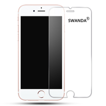 SWANDA 2.5D Premium Tempered glass for iPhone 6 6s 7 Plus Screen protector glass film for iPhone 4  5s 5 SE Explosion-proof glas