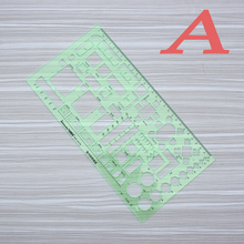 Brand New Green Geometric Template Ruler, Mapping Drawing Tools ,Suitable For Student School Stationery