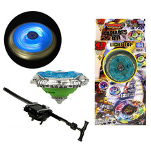 Flashing Kids Metal Beyblade Metal Fusion Children Metal Fury Beyblades Set with Launcher Spinning Top Toys TL06(China)