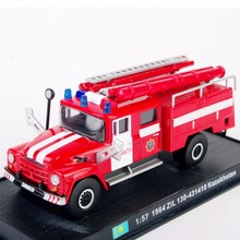 1/57 Scale Red Alloy Diecast Car Fire Truck Models Toys 1964 ZiL 130-431410 Kazakhstan Vehicles Model Kids Gifts Collections(China)