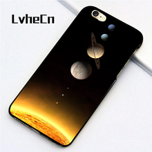 LvheCn 5 5S SE phone cover cases for iphone 6 6S 7 8 Plus X back skin shell Solar System Sun Planet(China)