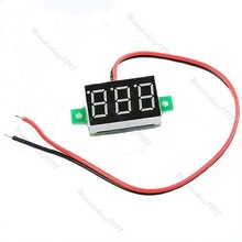 A96 P128- - 5pcs/lot Mini LED DC2.5-30V Red Volt Voltage Meter Display Digital Voltmeter Self-Powered Drop Shipping #XY#