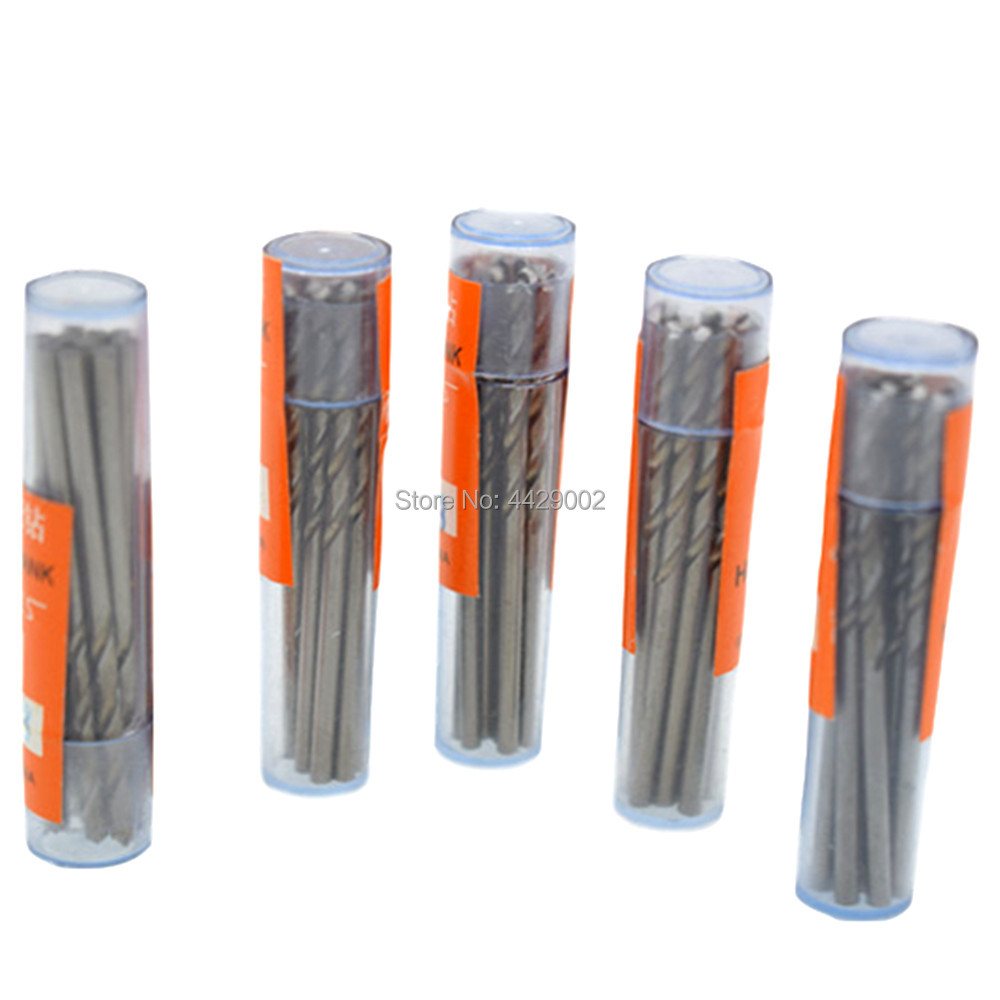 Durable 0.5-3.5mm High Speed Steel Twist Drills Straight For PCB Plastic Metal