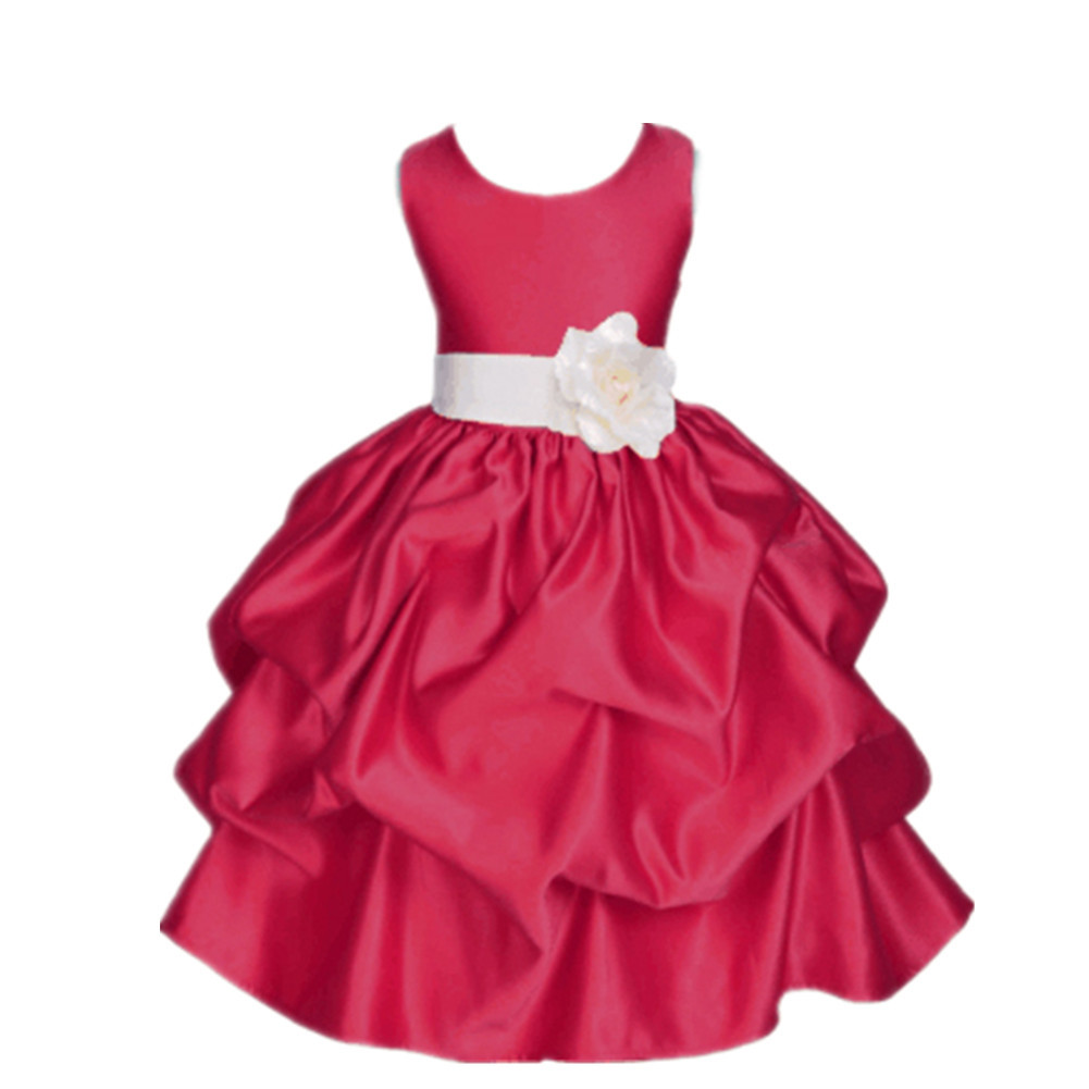 2017 children clothing sleeveless burgundy 3 to 10 year old girl wedding gowns girls party dress kids elegant<br><br>Aliexpress