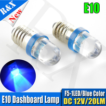 12pcs/lot Top Quality Low power consumption E10 LED Screw Base Indicator Bulb Cold White 12V DC Light Bulb Worldwide Sale(China)