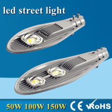 LED Street Lights 50W 100W 150W 45mil Bridgelux Road Highway Garden Park lights AC85-265V Streetlight poles Outdoor Lighting(China)