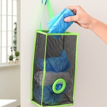 Hanging Kitchen Garbage Mesh Storage Bag Toy Storage Packing Shopping Bag Organiser Insert Sac De Rangement Home Pouch(China)
