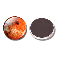 Venus 30 MM Fridge Magnet Venus One of The Eight Planets Glass Dome Note Holder Magnetic Refrigerator Stickers Home Decoration