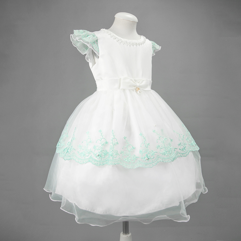 Nimble Girls Baby Tulle Double Layered Dress Lace Petal Sleeve Bowknot Kids Party Dress With Pearls Handmade<br><br>Aliexpress