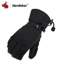 2017 Man Winter Sport Waterproof Motorcycle Gloves -30 Degree Motorcross Riding Gloves Snowboard Skiing Warm Gloves with LOGO(China)