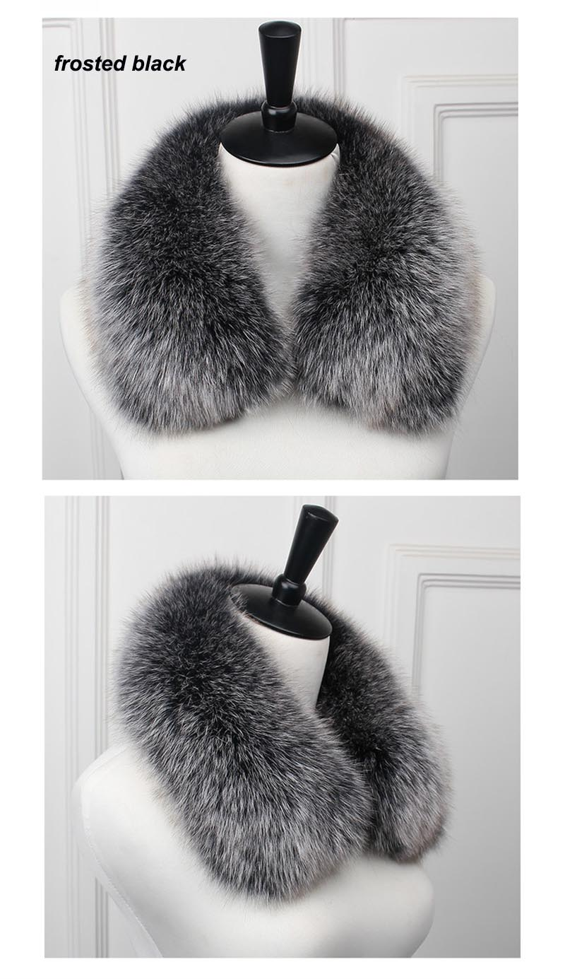 fox fur collar men frosted black