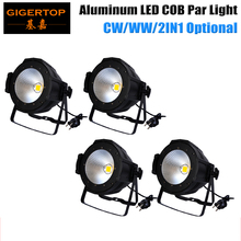 Freeshipping 4PCS Professional Stage Lighting 100W COB LED Pan Can /led Par64 DMX 100 Watt COB Par LED Stage Light Warm Yellow