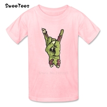 5 Fingers - Rock Star Boys Girls T Shirt Pure Cotton Short Sleeve O Neck Tshirt children's Tee-shirt 2017  T-shirt For Baby