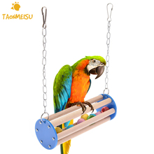 Pet Bird Chew Toys Stand Parrot Ringer Hanging Swing Cage Toy For Cockatiel Parakeet Pet Bird Supplies(China)