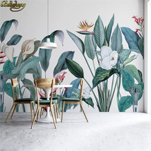 beibehang Custom Nordic medieval tropical plants flowers birds photo wallpaper for walls 3 d background 3d murals wall paper(China)