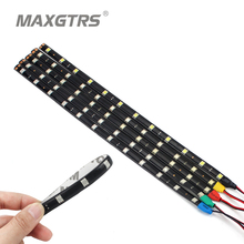 4x 30cm 60cm DRL waterproof Light 5050 12 SMD High Power Flexible Car LED Strips Blue/Green/Red/White Daytime Running Light(China)