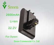 Sreen 2600mAh 22.2V Rechargeable Lithium Ion Replacement Battery for DYSON Vacuum Cleaner DC31 DC34 DC35 DC44 917083-01(China)