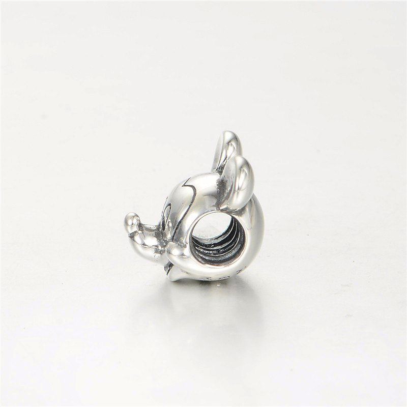 2017 New Free Shipping 1Pc Silver Bead Charm European Silver With Mickey Cartoon Charm Pendant Bead Fit Pandora Bracelet Gifts (1 (3)