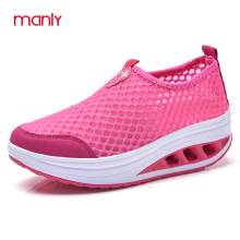 MANLY 2017 Women Shoes Slimming Platform Shoes Women Fashion Women Flats Fitness Lady tenis feminino casual Large Size 35-43