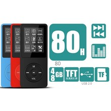 Ultrathin 4G/8GB MP3 Player with 1.8 Inch Screen Can Play 50H With FM E-Book Clock Data