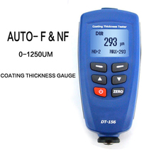 Digital DT-156 Paint Coating Thickness Gauge Meter Tester 0~1250um with Built-in Auto F & NF Probe + USB Cable + CD software
