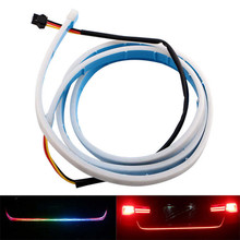 Keyecu 120cm Car Rear Tail Box RGB Light Dynamic Streamer Brake Turn Signal LED Strips 72 smd LED for medium senior models(China)