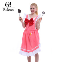 Japan Amine CARDCAPTOR SAKURA Cosplay Aprons Cute Pink Vintage Bowknot Apron Clothing Kitchen Accessories Fashion Overalls