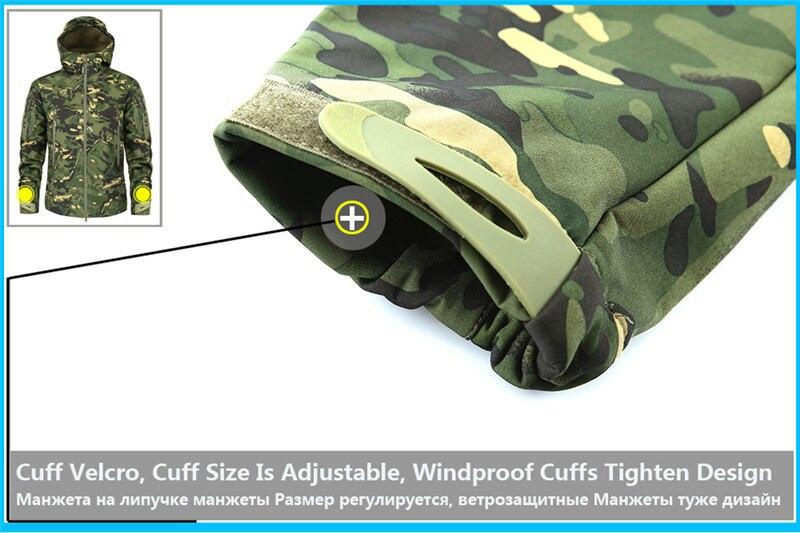 Mege Shark Skin Soft Shell Military Tactical Jacket Men Waterproof Army Fleece Clothing Multicam Camouflage Windbreakers 4XL 13