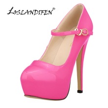 Buy LOSLANDIFNE New Women High Heels Shoes Party Style Shoes Bridal Wedding Pumps Sexy Platform Ankle Strap Ladies Pumps 817-10PA for $29.04 in AliExpress store