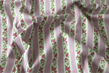 Vintage Stripes Floral Patchwork linen Material Home Upholstery Table Cloth Fabrics Tissu