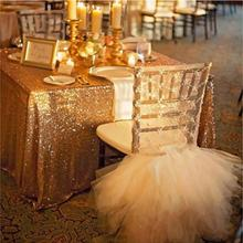 100x130cm Sparkling Sequin Tablecloth Wedding Party Gold Silver Champagne Colorful Table Cloth Decoration Bling Table Cover