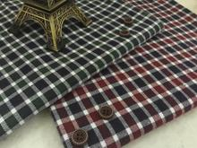 pf44 TWILL Sanded Cotton fabric cloth textile tartan small square winter coat fabric retail or wholesale green red 50cm x 145cm