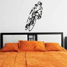 IDFIAF Bike Bicycle racing Palyer Sports wall art Art Decor Sticker Vinyl Hollow Decal Boy Room Home Decor Wallpaper Mural