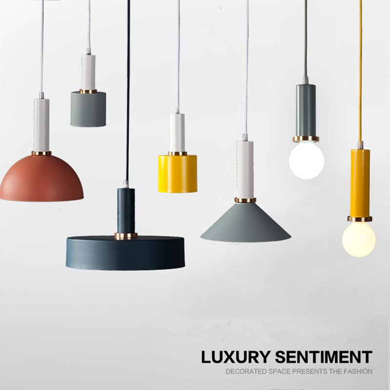 Nordic Multicolor Art Dining Room Chandelier Creative Personality Bar Macaroons  Simple Coffee Shop Bar Light Fixtures<br>