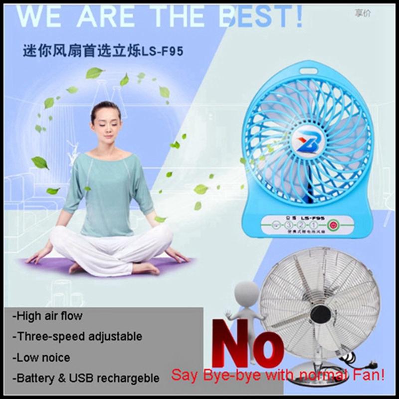LISHUO USB rechargeble Mini Fan 4