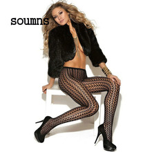 Soumns Sexy Pantyhose Tights Women Female Fashion Thin Sheer Long for Spring Fall Sexy Patterned High Waist Pantyhose LC79547(China)