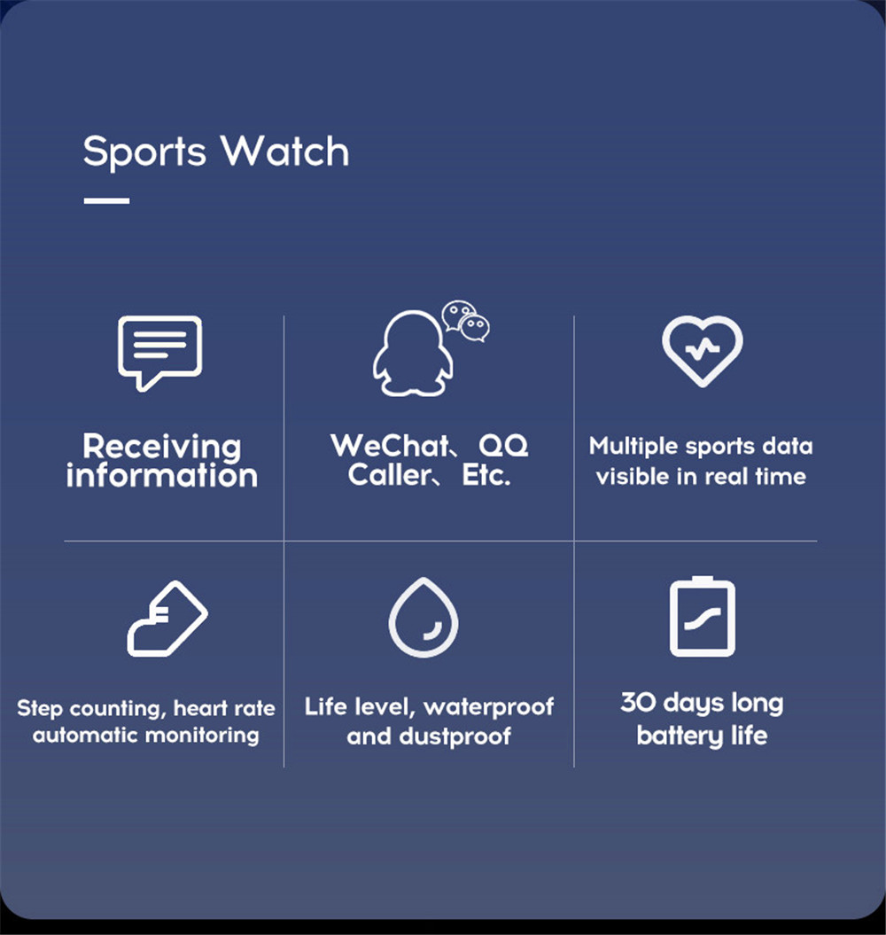 5-130435- Smart Watch Men Blood Pressure Waterproof Smartwatch Women Heart Rate Monitor Fitness Tracker Watch GPS Sport For Android IOS
