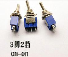 10 PCS/lot Miniature Toggle Switches MTS-102 3 Pin ON-ON 6A/125V 3A/250V Single Unit 3 feet 2 files High Quality