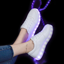 Led Glowing Luminous Sneakers USB Charging Kids Light Up Led Children Shoes With lighting Kids for Boys and Girls Shoe enfant(China)