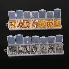1 Box Mixed Clasps/ump Rings/Chains Jewelry Findings Kit Assorted sizes Jewelry Accessories Gold & Rhodium for DIY Making BDH049