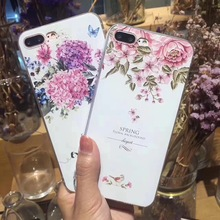 NFH Flower Soft Tpu Case For IPhone 5 5s On X 8 7 5 6 6s SE Silicone Bumper Cover For IPhone X 6 6s 7 8 Plus Cases Coque Fundas(China)