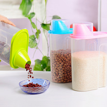 Kitchen Large Store Keeping Bottle Box Containers Accessories Candy Plastic Storage Container For Food Saving Grain with Cover