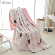 Baby Adult Air Conditioning Blankets Summer Blanket Soft Throw On Sofa/Bed Travel Blanket Cotton Air conditioning quilt D50